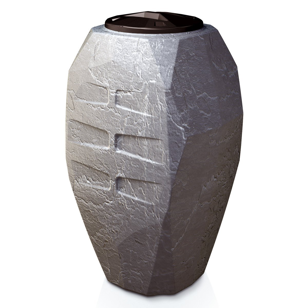 regentonne canyon steinoptik grau 300 liter ion300s regenfass wasserfass kaufen. Black Bedroom Furniture Sets. Home Design Ideas