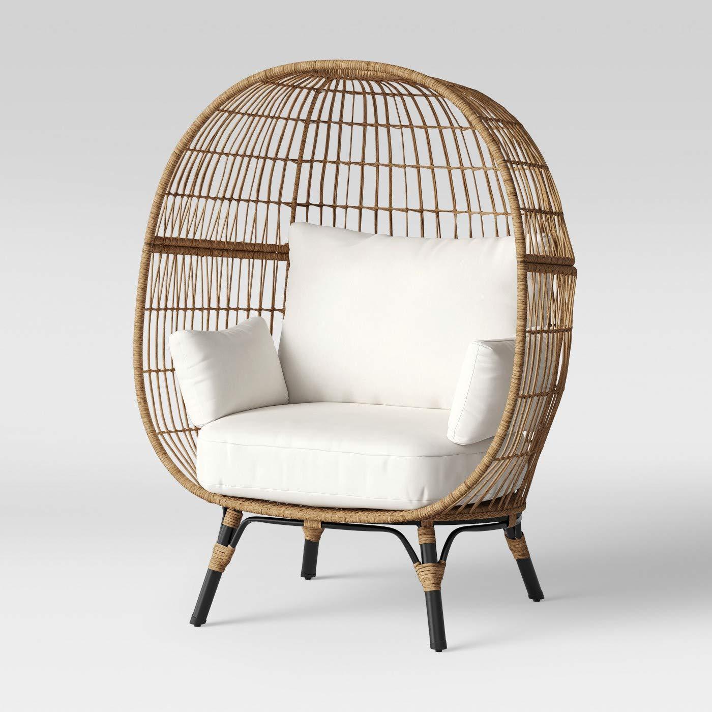 Fine Amazon Com Opalhouse Southport Patio Egg Chair Linen Inzonedesignstudio Interior Chair Design Inzonedesignstudiocom