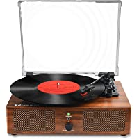 Vinyl Record Player Bluetooth Turntable with Built-in Speakers and USB Belt-Driven Vintage Phonograph Record Player 3…