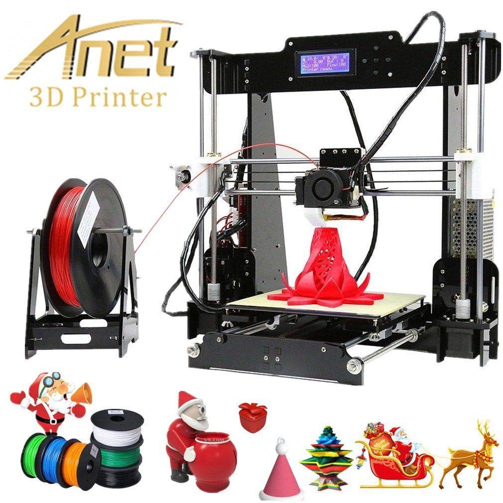 Anet A8 3D Imprimante en kit DIY Couleur Impression Imprimante 3D de Bureau Grand Taille 220 * 220 * 240mm