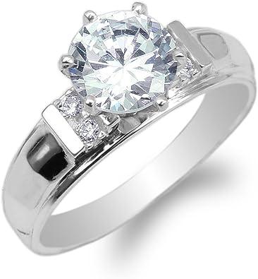 Brightt Cz .925 Sterling Silver Fashion Ring Sizes 4-10