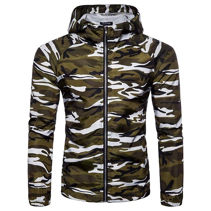 Bestow Abrigo de Camuflaje de Verano para Hombre Sudadera suéter Chaleco Cortaviento con Capucha Camiseta Top Blusa: Amazon.es: Ropa y accesorios
