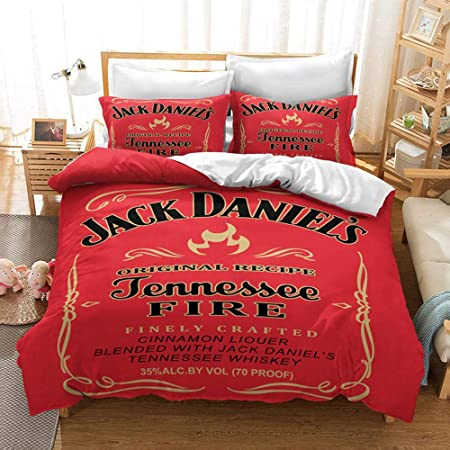 YYOUNG Bettwäsche Set 3D Jack Daniels Druck Bettbezug Sets