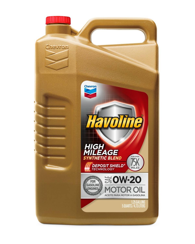 Amazon.com: Havoline 0W20 High Mileage Synthetic Blend, 5 quart, 1 Pack: Automotive