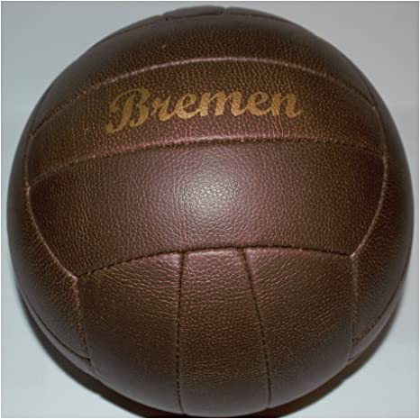 Fútbol/Fútbol/Nostalgie pelota/Retro en aspecto de piel/marrón ...