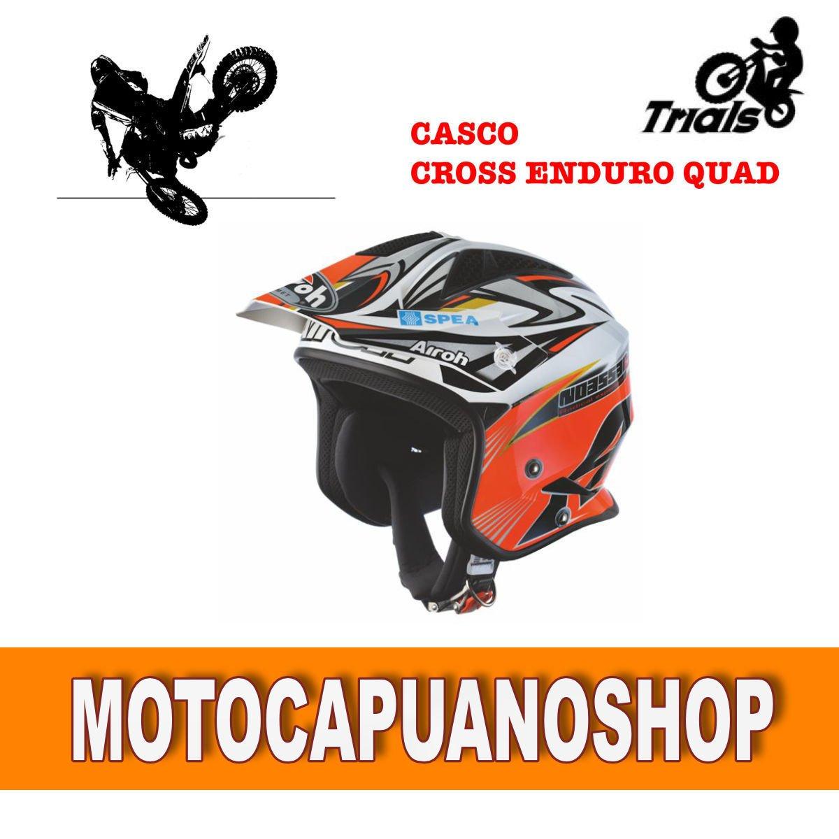 Helmet Helmet Casque Cross Enduro Quad Airoh Modtrr Rep Bou Size
