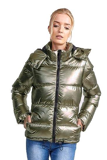 804e09ee3 Brave Soul Womens Thunder Metallic Padded Jacket: Amazon.co.uk: Clothing