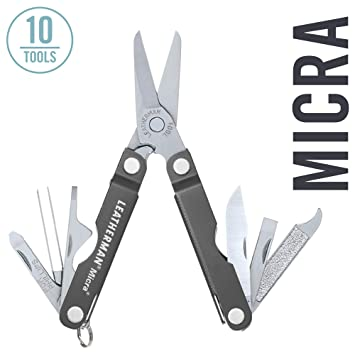 Leatherman Micra Keychain Size Multitool Stainless Steel Gray