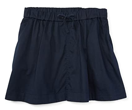 8470a65bc Ralph Lauren Little Girls' Chino Cotton Drawstring Skirt (6, Aviator Navy)
