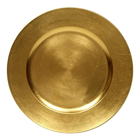 Round Charger Dinner Plates Gold 13 inch Set of 124  sc 1 st  Amazon.com & Amazon.com | Round Charger Dinner Plates Gold 13 inch Set of 1 2 ...
