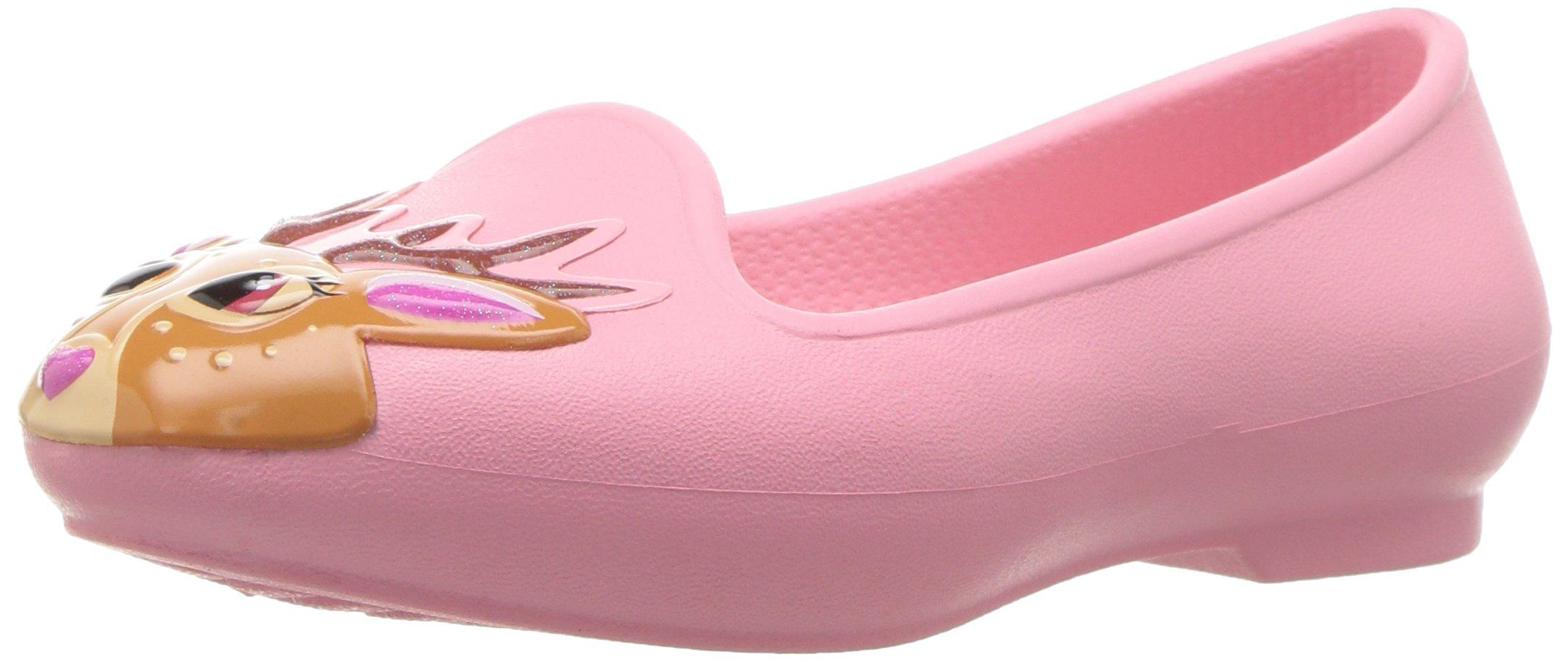 Crocs Girls' Eve Novelty K Flat, Peony Pink, 9 M US Toddler