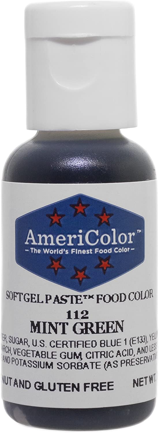 Americolor Soft Gel Paste Food Color.75-Ounce, Mint Green