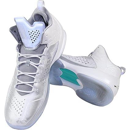 f187f15d41d3 Joe Johnson Brooklyn Nets Game Used Air Jordan Melo M11 White Silver ...