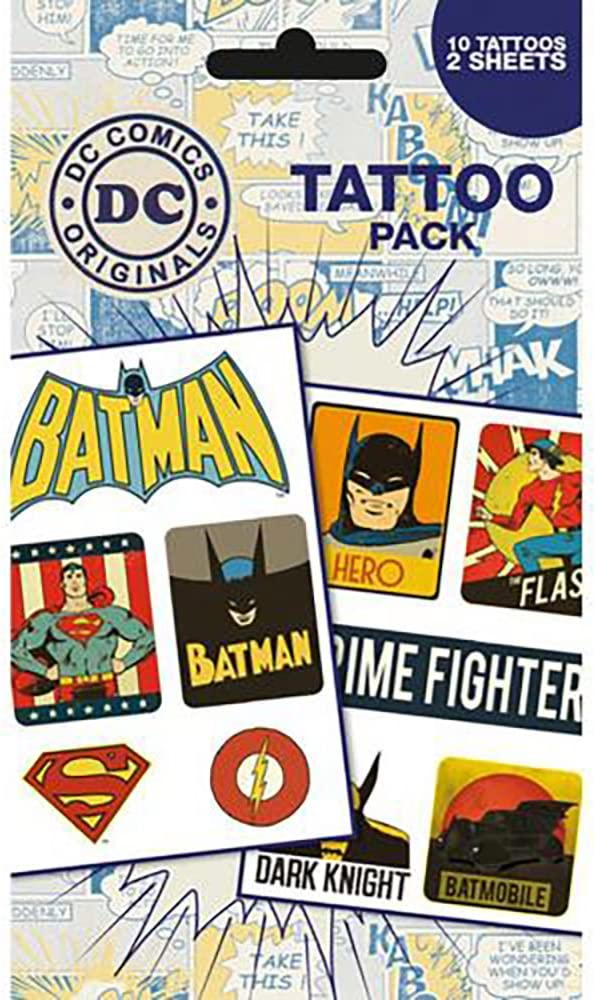 Official Licensed Dc Comics Tattoo Pack Amazon Es
