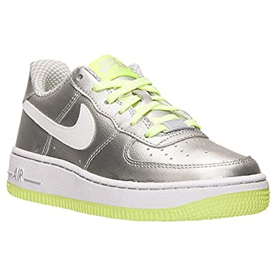 Nike Youth Air Force 1 (GS) Sneakers Metallic SilverVolt