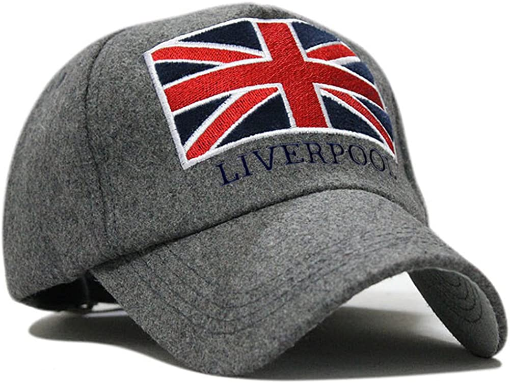 LOCOMO UK Union Jack Flag Liverpool England Embroidery Snapback Cap FFH130BLK