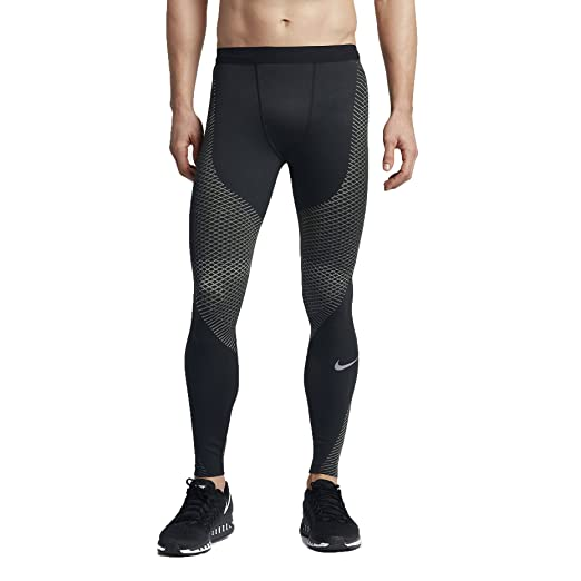 54ce1a5942 Amazon.com : Nike Zonal Strength Mens Running Tights (S, Black/Grey ...