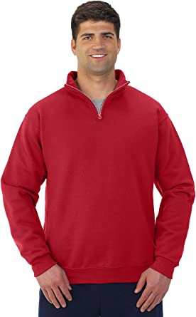 -TRUE RED-L 993 Jerzees mens 8 oz 50//50 NuBlend Fleece Full-Zip Hood