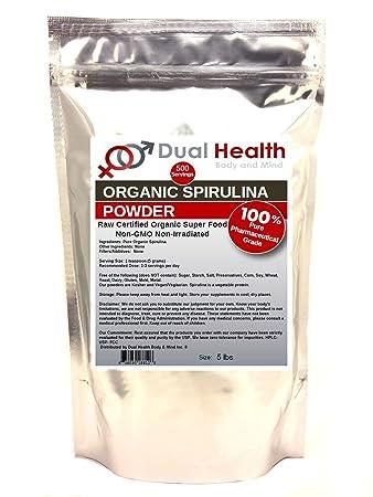 Pure Organic Spirulina 5 lbs Protein Powder USDA Chlorophyll Non-GMO Non-Irradiated Bulk Supplements