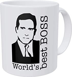 della Pace World's Best Boss, The Office Michael Scott 11 Ounces Funny Coffee Mug Gag Gift