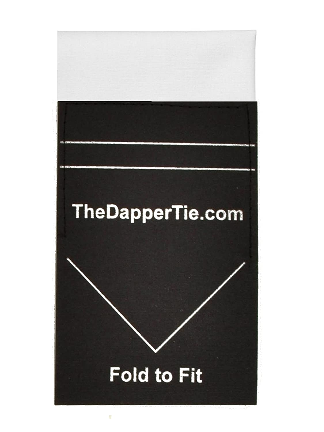 Mens Extra Thick Cotton Flat Pre Folded Pocket Square on Card TheDapperTie