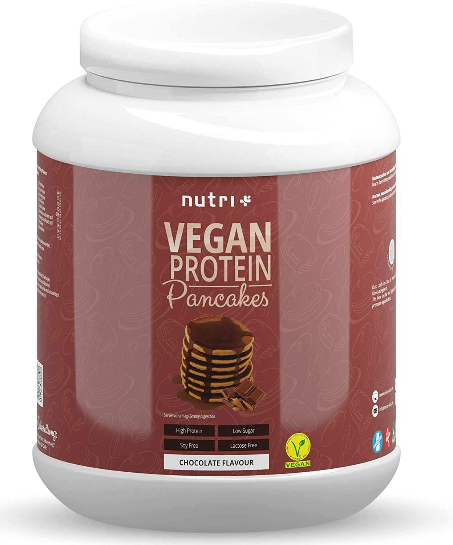 nutri+ veganes Protein-Pancakes Pulver, 1000 g Dose ...