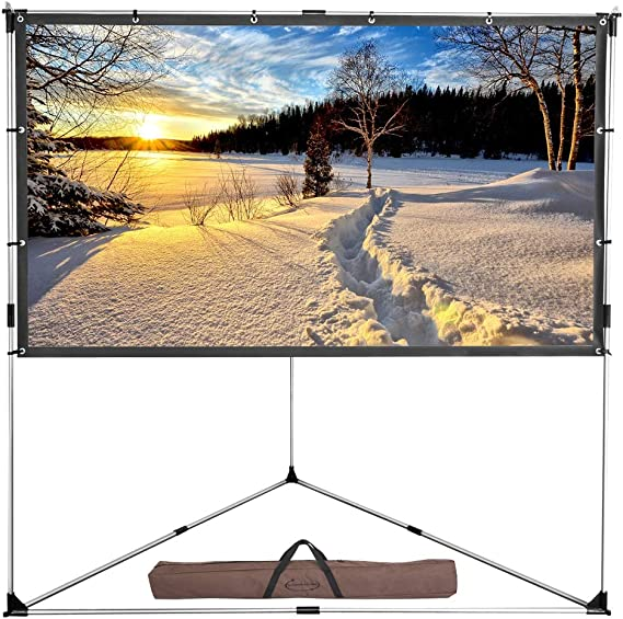 ShowMaven Outdoor Projector Screen with Stand 100inch