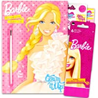 Barbie Paint With Water Book Set with Paint Brush With Stickers