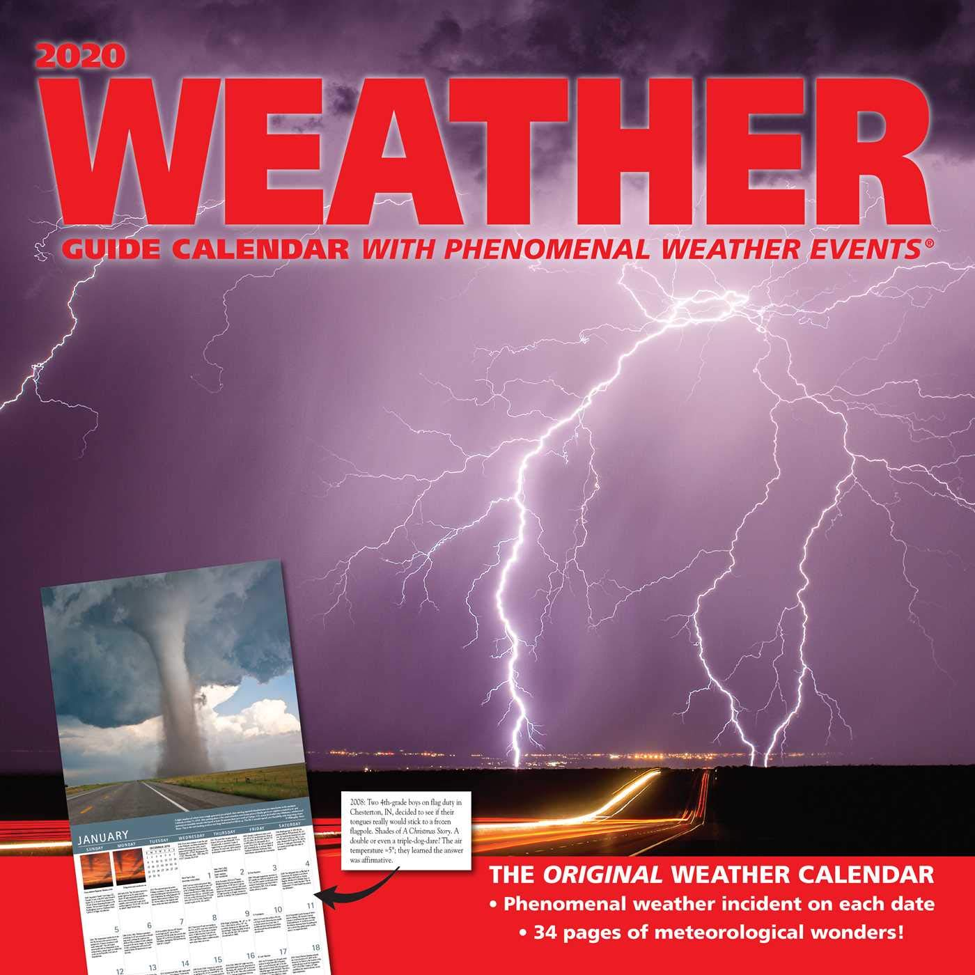 Weather Calendar 2020 Weather Guide 2020 Wall Calendar: Andrews McMeel Publishing
