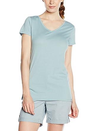 edc by ESPRIT Damen T-Shirt 046CC1K049-Basic, Blau (Light Turquoise 480