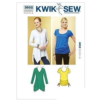 Kwik Sew Mustern K3802 Größe XS/Small/Medium/Large/Extra Große Tops ...