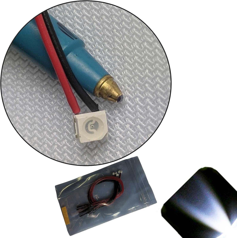 Pack of 5 4v, 5v, 6v Ultra Bright 5mm 6v Pre-Wired Cool//Clear White LED