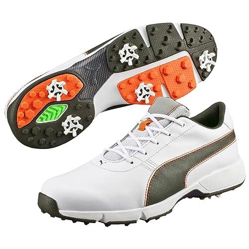 Puma Chaussures de Golf pour Homme Blanc WhiteForest