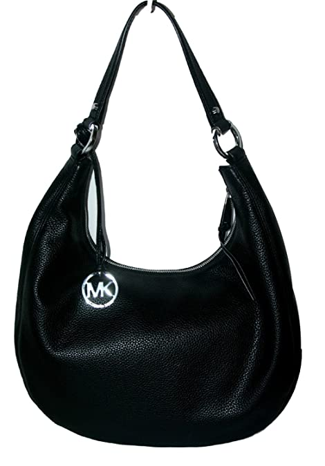 03f7945af80b Michael Kors Rhea Zip Large Shoulder Black Leather Handbag: Amazon.ca:  Shoes & Handbags