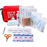 Pet First Aid Kit Dog – Vet Approved and is Perfect for Bleeding Nails, Clean, Dress Wounds. Self Adhering Bandage Will…