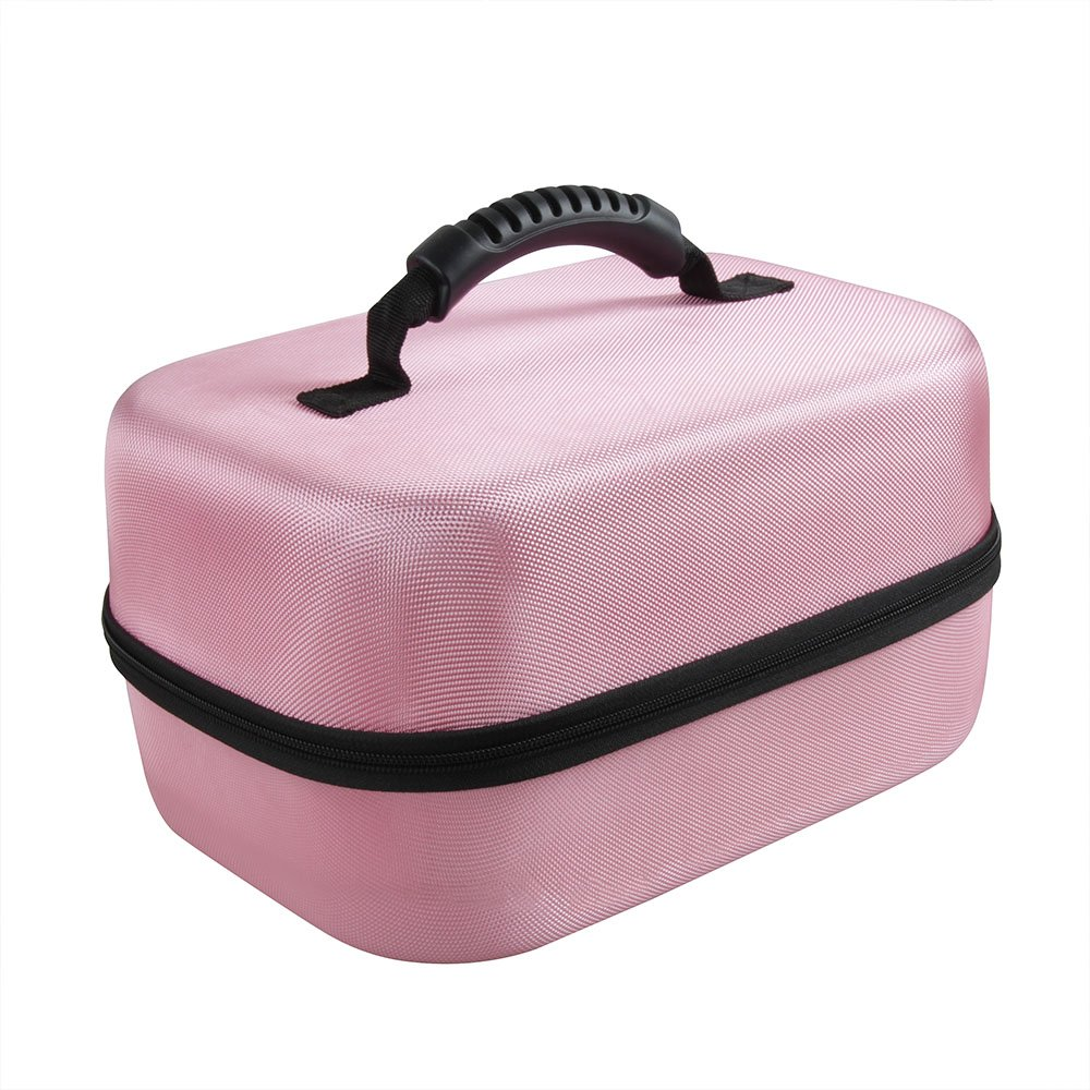 Hard EVA Travel Pink Case for Spectra Baby USA S2 Double / Single Breast Pump 3.3 Pound by Hermitshell