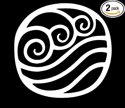 Angdest Avatar The Last Airbender Waterbending Symbol White Set