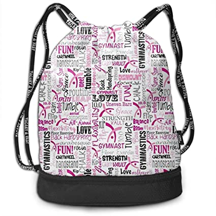 fbad662a3e Image Unavailable. Image not available for. Color  Gymnastics Love  Drawstring Bag Rucksack Shoulder Bags Travel Sport Gym ...