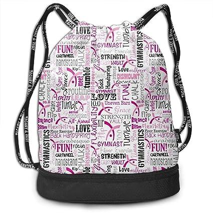 5fac63c7f016 Amazon.com: Gymnastics Love Drawstring Bag Rucksack Shoulder Bags ...