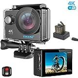 EKEN H9R Action Cam 4k Wifi Impermeabile Videocamera 170° Grandangolare Sport Action Camera con 2 batteria Charging dock e Tripod kit di montaggio(Nero)