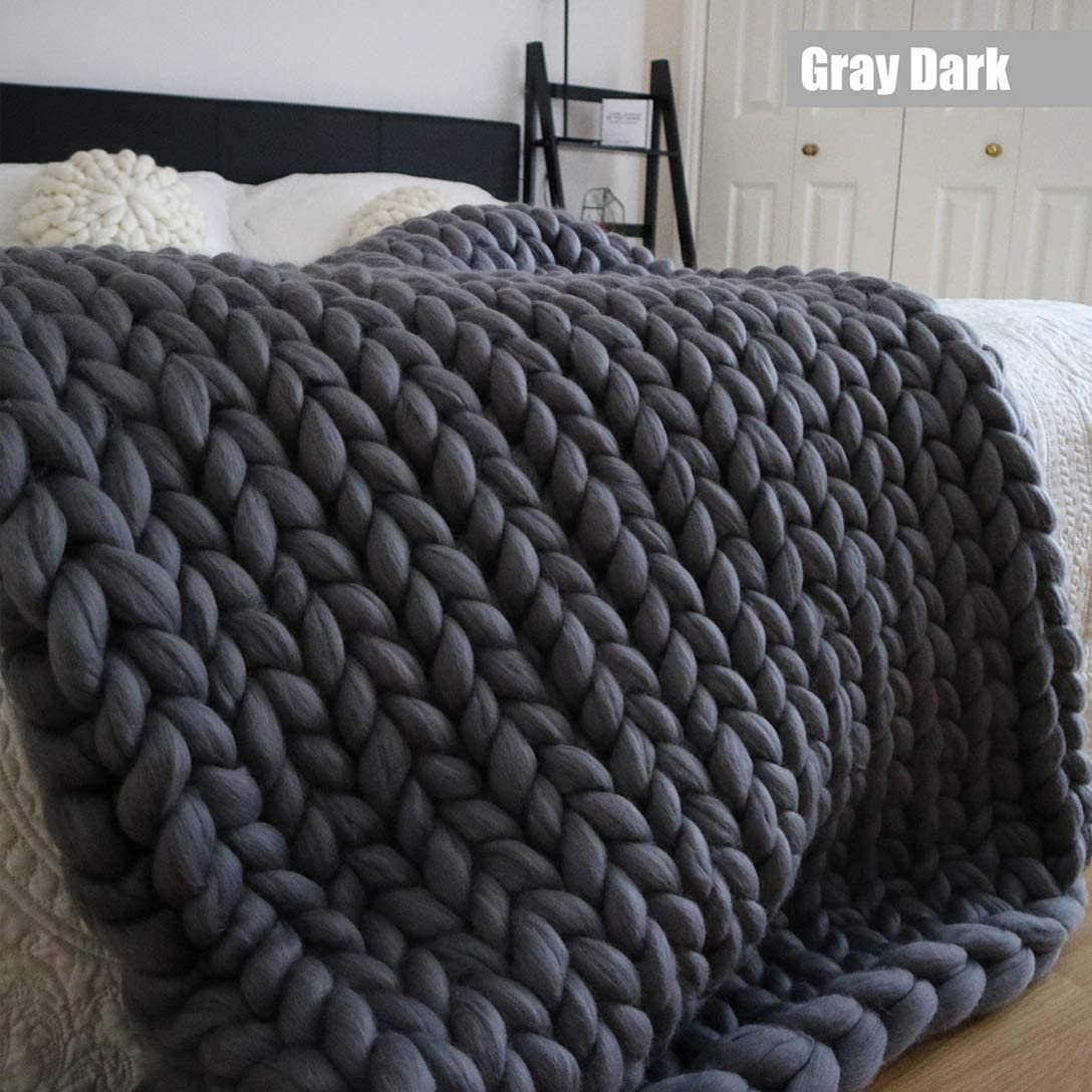 ZZZGY Chunky Knit Blanket Tejido Hecho a Mano, Cable Grande de Punto Premium Soft Cozy Warm Couch Bed Lounge Home Decorator