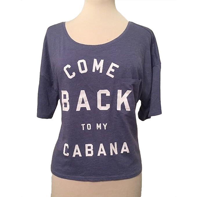 a97df2dcd3a46 Victoria's Secret Come Back to My Cabana V-Back Pool Cover T-Shirt ...