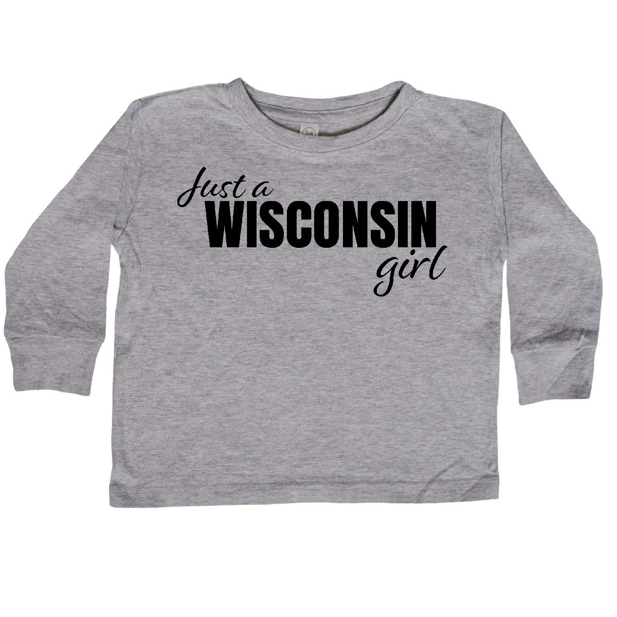inktastic Just a Wisconsin Born and Raised Toddler Long Sleeve T-Shirt