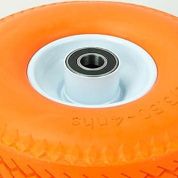 4x Gummirad PU Sackkarrenrad Reifen Vollgummi /Ø 260 mm 4.10//3.50-4 Sackkarre TK04-4
