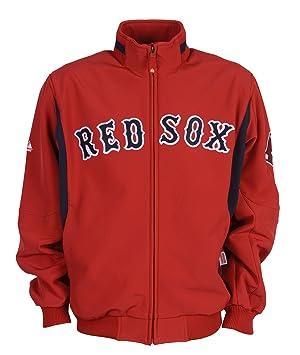 MLB Boston Red Sox Big & Tall Therma Base Premier Chaqueta, Hombre, Rojo/