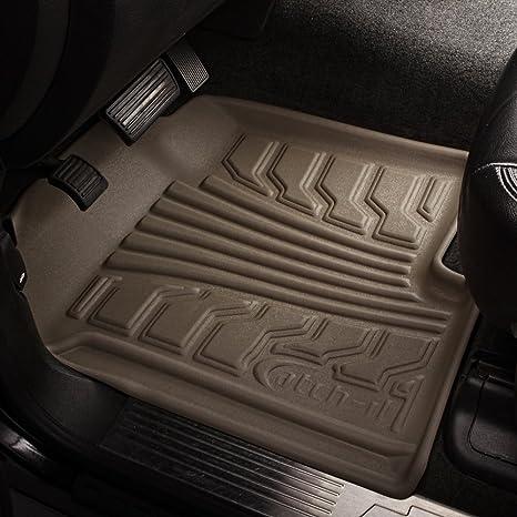 Set of 2 Lund 283055-G Catch-It Vinyl Grey Front Seat Floor Mat
