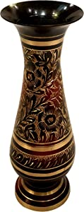 Akanksha Arts Made of Brass - 8 inch high Vase - A Rare Indian Decor - Alluring Nakkashi