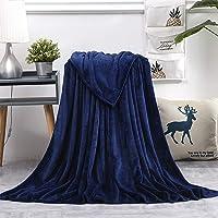 AiShengHuoAcc Manta para Cama,Manta de sofá,Manta para niños,Manta para Mascotas,Manta Transpirable (Armada, 130x150 cm)
