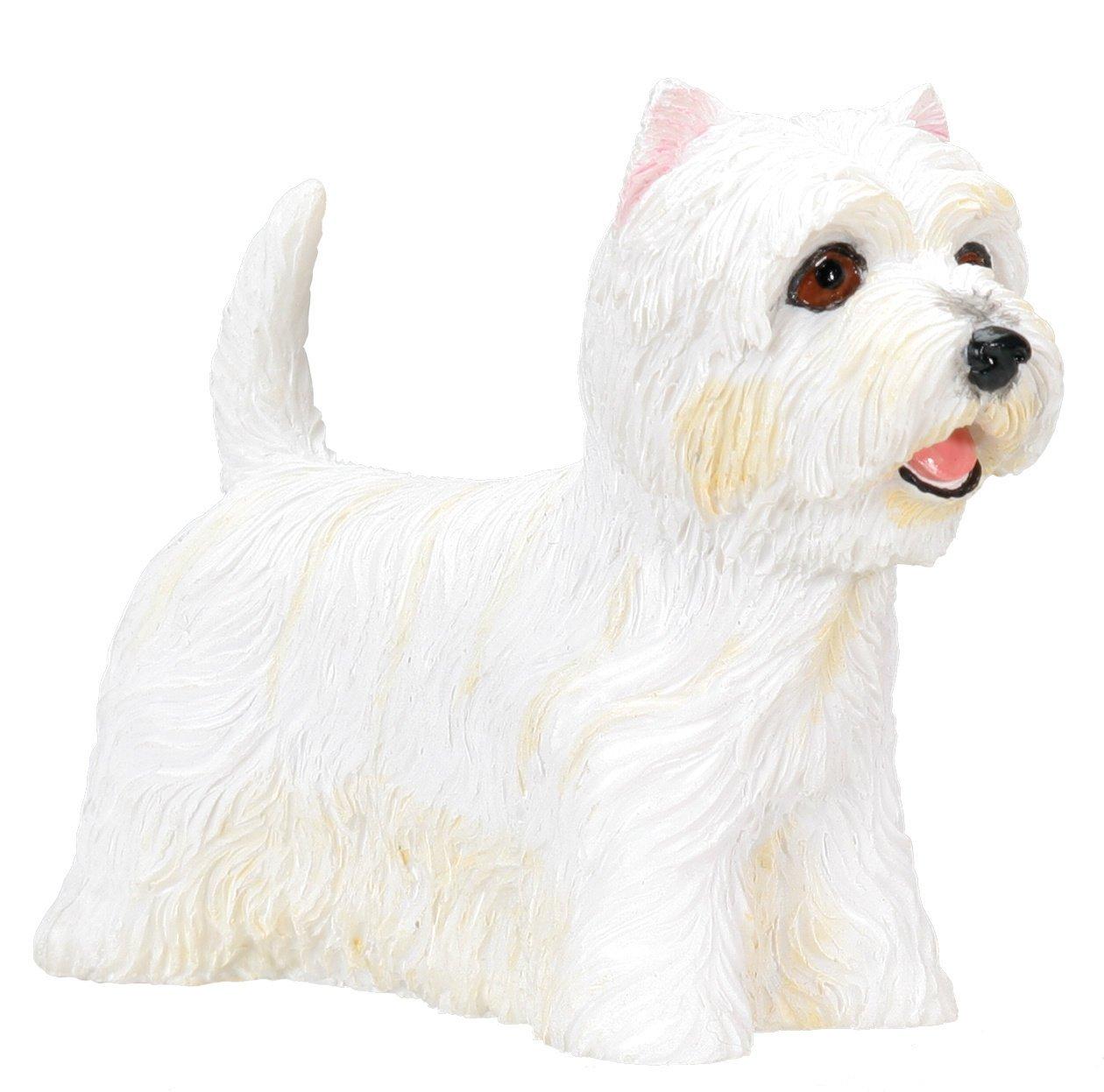Amazon.com: West Highland Terrier (Westie) Dog   Collectible Statue Figure  Yorkie: Home U0026 Kitchen