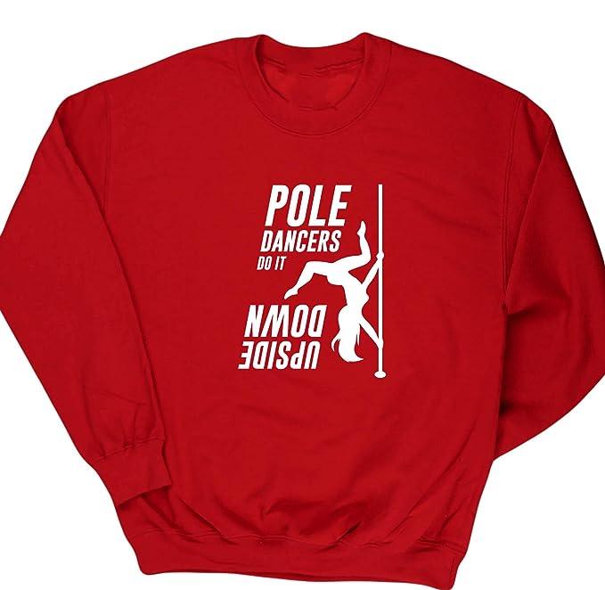 HippoWarehouse Polo Bailarines Hacer En Boca Abajo Unisex Sudadera Suéter Jersey - Rojo, Pequeña
